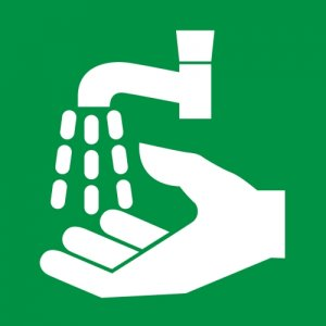First Aid – Wash your hands hygiene symbol sign