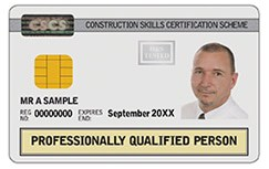 White Yellow CSCS Card
