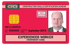 Red CSCS Card: Experienced Technician, Supervisor, or Manager