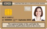 gold supervisory cscs test card