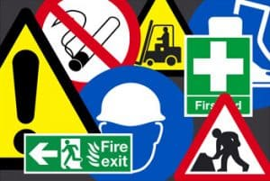 health and saftey signs