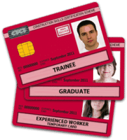 a bunch of red cscs cards