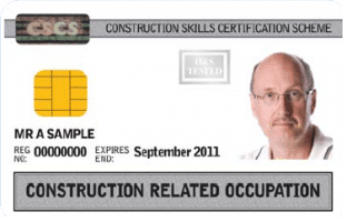White CSCS card Construction related card